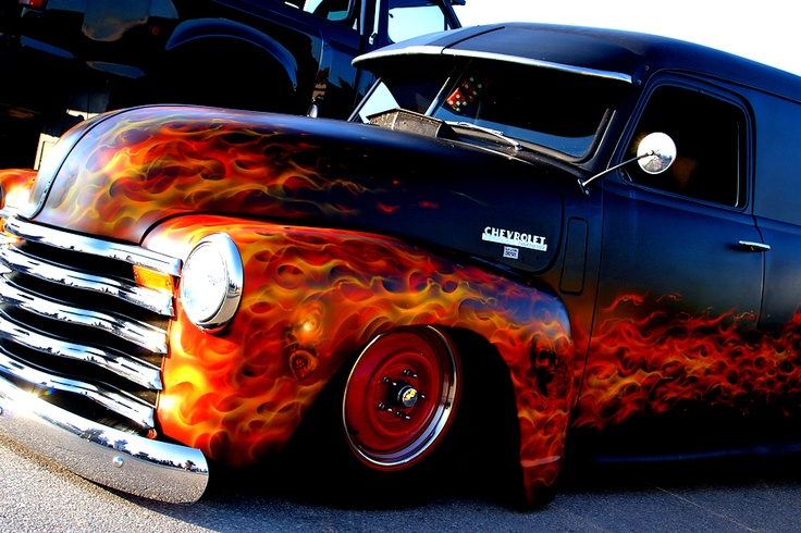 Custom Car Steel Flame Paint Jobs