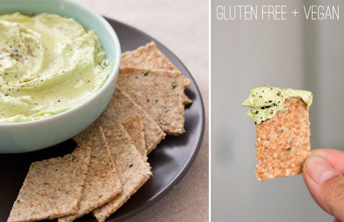 edamame dip with almond sesame crackers | In the Kitchen | Pinterest