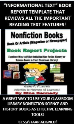 informational book report template