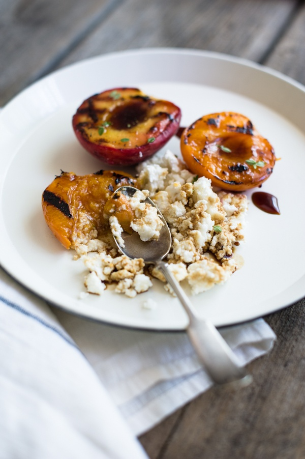 grilled stone fruit with ricotta | Dessert me | Pinterest