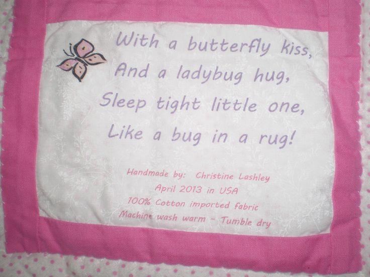 Baby Quilt Label Quotes Quotesgram