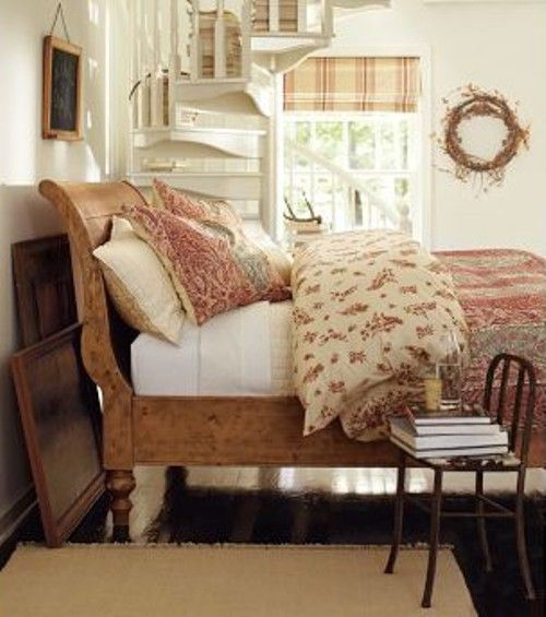 Love The Wooden Bed Bedrooms Pinterest