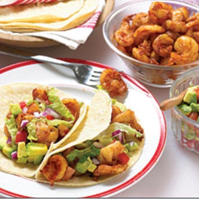 Shrimp and avocado tacos :) | Delicious Food & Drinks | Pinterest