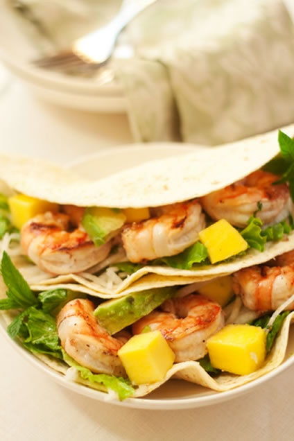Southwestern Grilled Shrimp Taco Recipe | Recipes | Pinterest