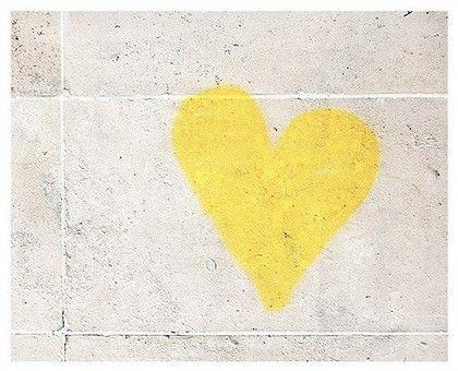 yellow heart, #yellow