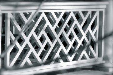 Chinese Chippendale Railing Diamond Traditional House Exterior Pinterest Deck Railings