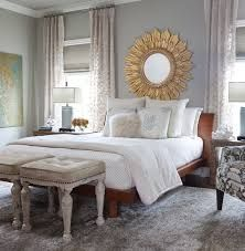 grey and gold bedroom Humble Abode