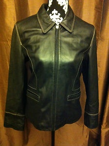 Kenneth Cole Leather Jacket women's size L ony $47.99 Free shipping