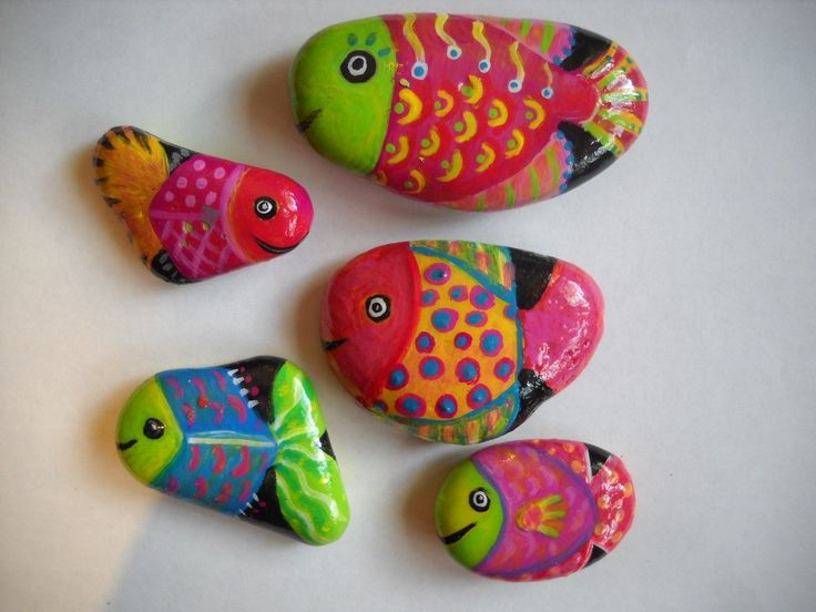 Sold order for hwngal 5 painted fish rocks for Step 2 rocking fish