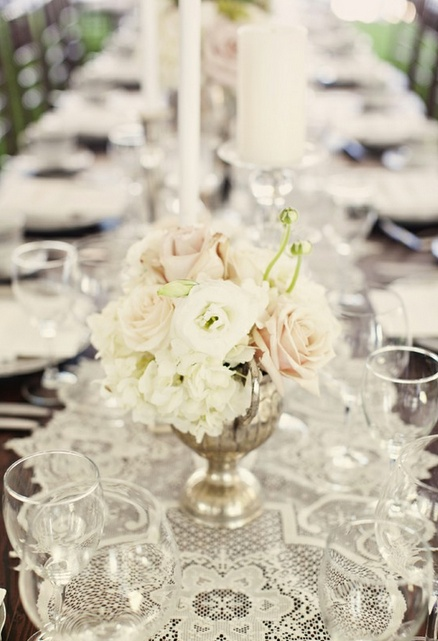 love the lace table runner wedding ideas pinterest