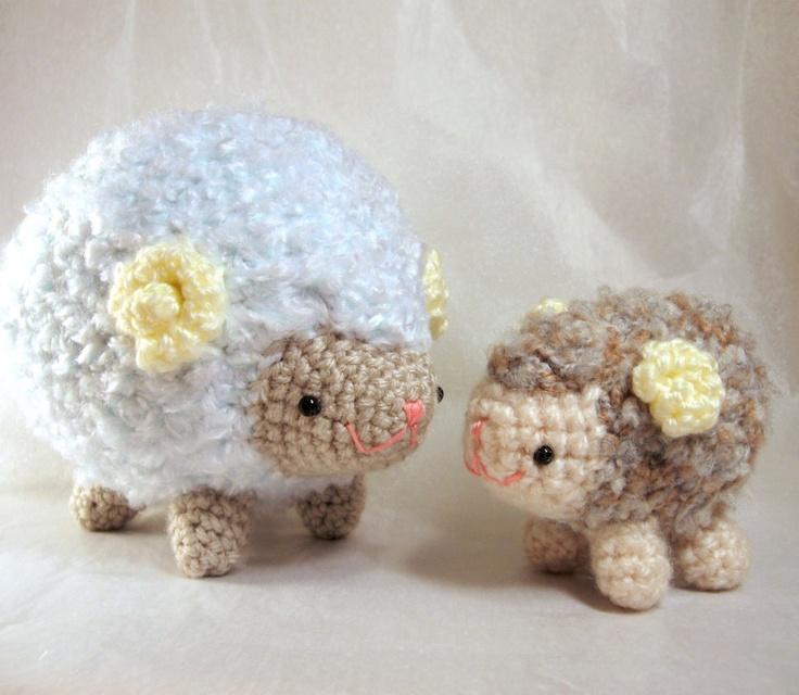 Crochet Amigurumi Collection : Amigurumi Crochet Pattern - Sheep Family Collection