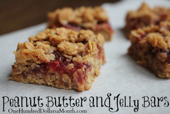 Peanut Butter and Jelly Bars | Tums | Pinterest
