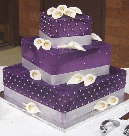 purple layer cake | Gorgeous Cakes!! | Pinterest