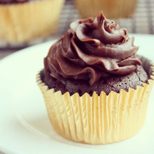 Flourless Chocolate Cupcakes with Chocolate Cream Cheese Frosting | R ...