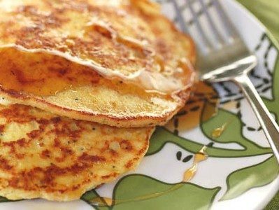 Lemon Poppy Seed Ricotta Pancakes from Pioneer Woman. It's what's for...