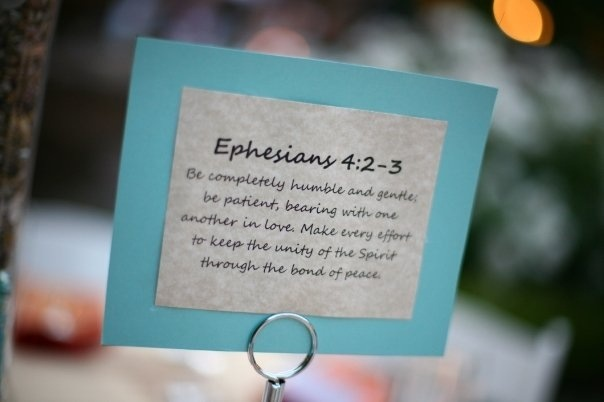 Wedding Bible Verse Table Number