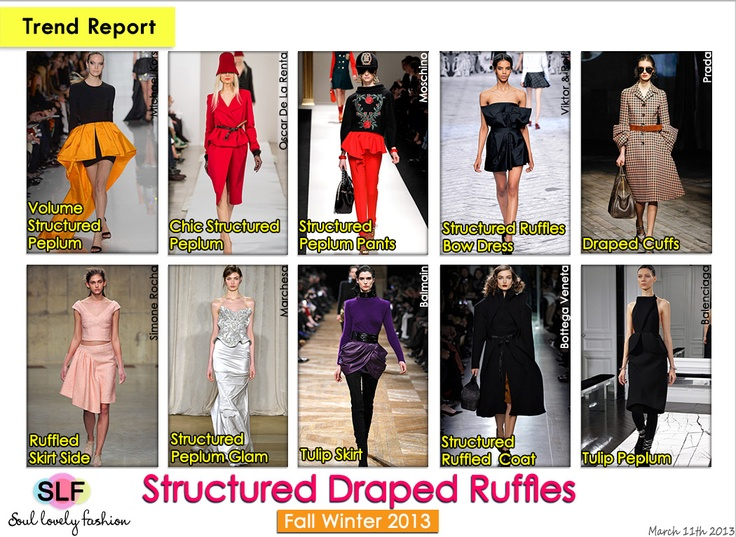 ... Draped #Ruffles #Fashion #Trend for Fall Winter 2013 #trends