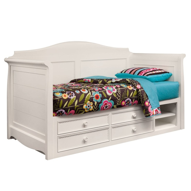 Hannah white twin daybed with storage for eli pinterest Daybeds with storage