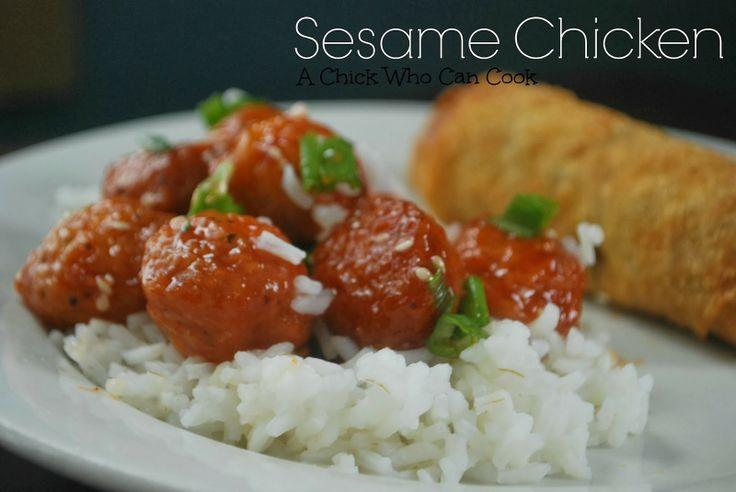 sesame chicken   Chinese   Pinterest
