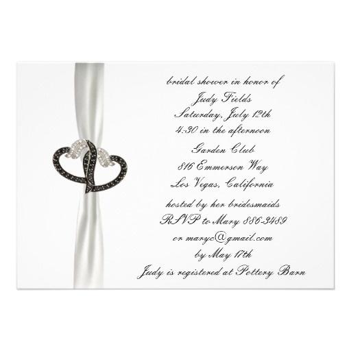 Black & White Diamond Bridal Shower Invitation #brides