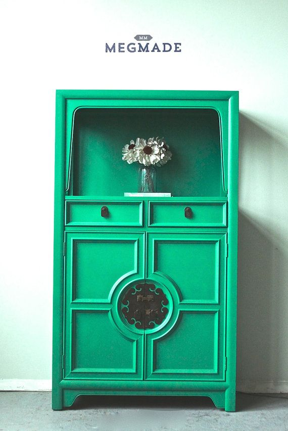 Breathtaking Emerald Green Cabinet by MegMade by megmadechicago, $499
