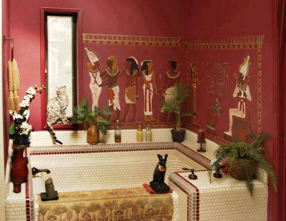 Egyptian bathroom egyptian inspired decor pinterest for Egyptian bathroom designs