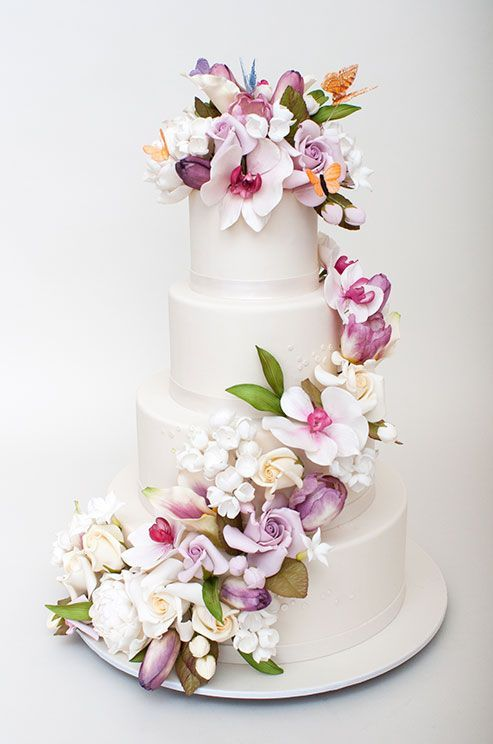Cascading Flowers Wedding Cake One Day Soon Pinterest