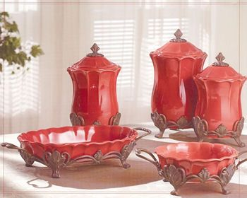 Bathroom accessories bring in the accents pinterest - Red kitchen decor accessories ...