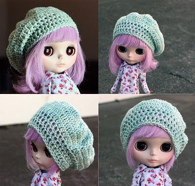 Free Knitting Patterns For Dolls Hats : CROCHET BLYTHE BEANIE PATTERN Crochet Patterns Only