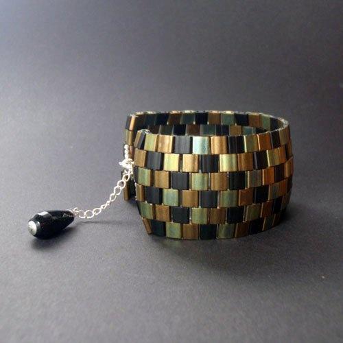 miyuki tila bead cuff beautiful jewelry made with miyuki