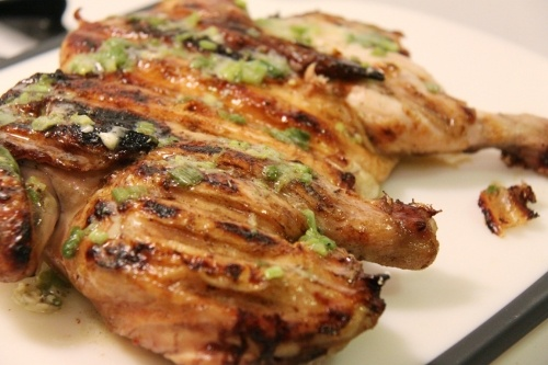 Brick Grilled Chicken with Scallion and Lime Butter | 5 Easy Lunch ...