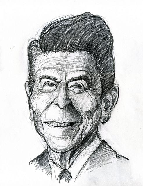 ronald reagan international caricatures amp sketches
