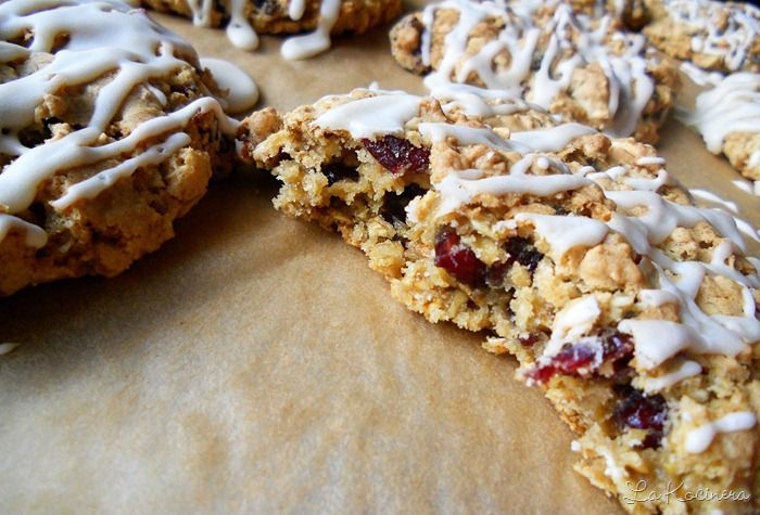 My Favorite Cookies Cranberry Oatmeal with maple glaze (I add ...