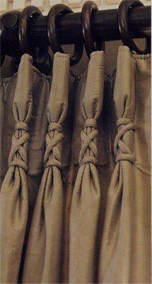 Ballet Slipper Pleated Drapes