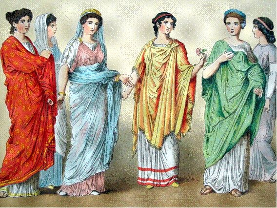 Roman women in upper class