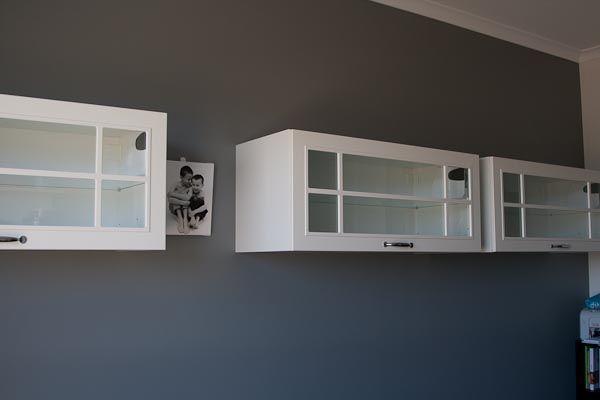 Spülbecken Unterschrank Ikea ~   Grey, Ikea kitchen overhead Faktum cupboards with Stat glass doors