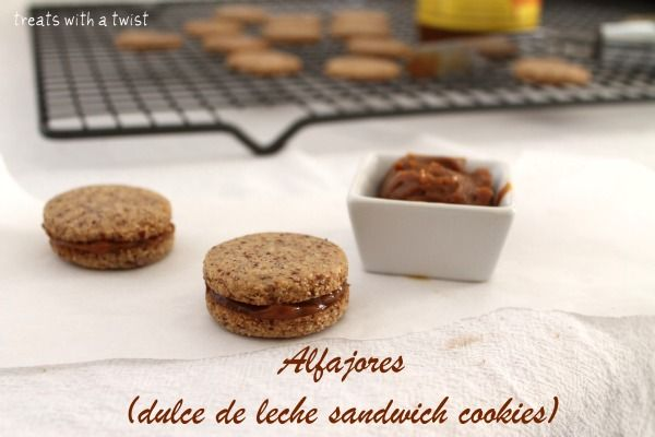 Alfajores Cookies (dulce de leche sandwich cookies) gluten-free!