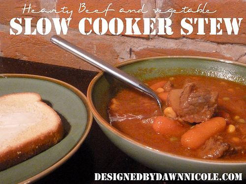 Hearty Beef and Vegetable Slow Cooker Stew | Recipe