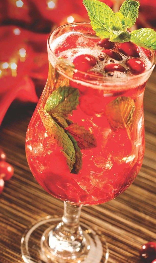 Spiced Cranberry Mojito Recipe | holiday, oh holiday | Pinterest
