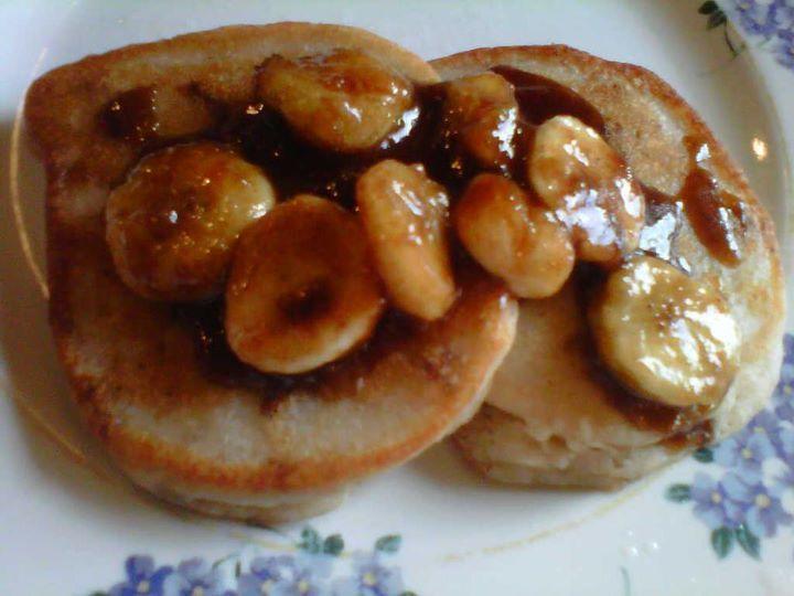 Bananas Foster Pancakes | TACA | Pinterest