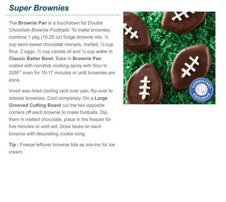 Touchdown brownies! | Pampered Chef | Pinterest