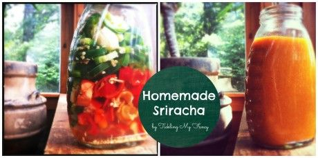 homemade sriracha from my friend Amber Need to try this.