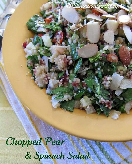 Chopped Pear and Spinach Salad | Recipe