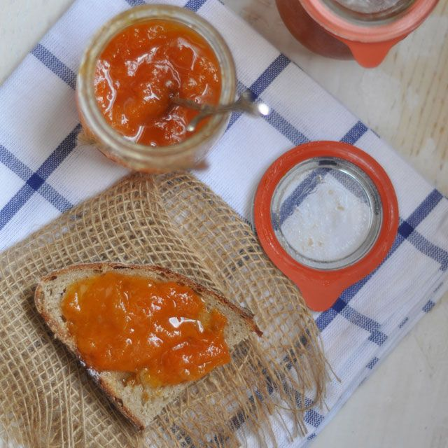Apricot and Vanilla Bean Jam adapted from The Blue Chair Jam Cookbook