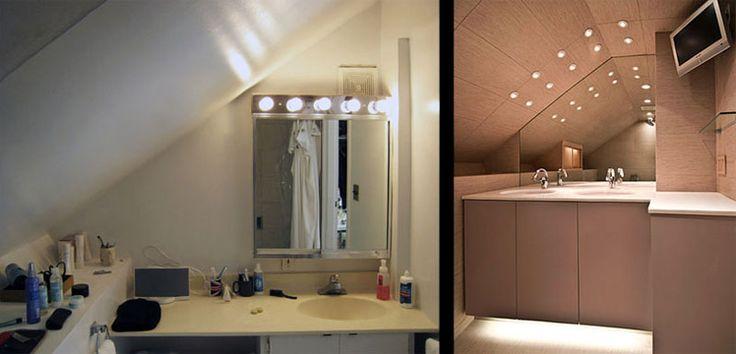 smart lighting ideas for sloped ceiling ceiling flair. Black Bedroom Furniture Sets. Home Design Ideas