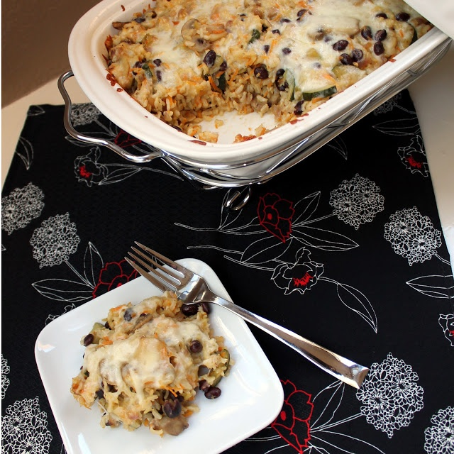 Brown Rice and Black Bean Casserole | FOOD | Pinterest