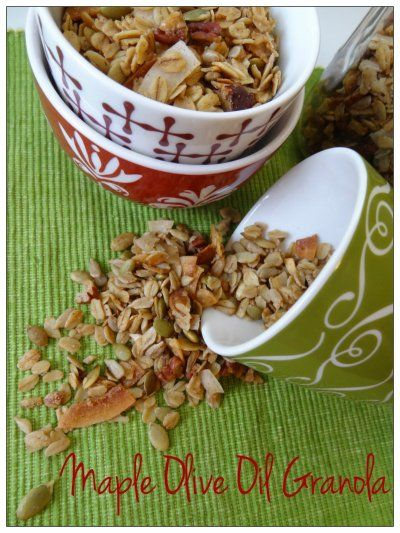 Maple Olive Oil Granola by Nutrition Nut on the Run