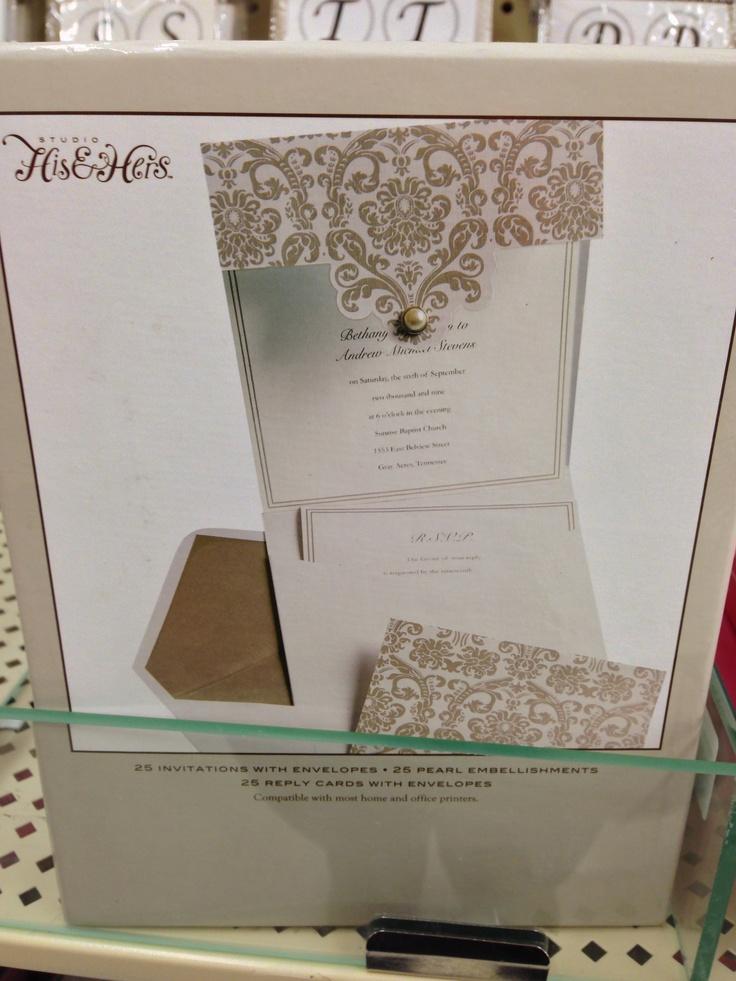 Hobby Lobby Wedding Invitation My Dream Wedding Pinterest