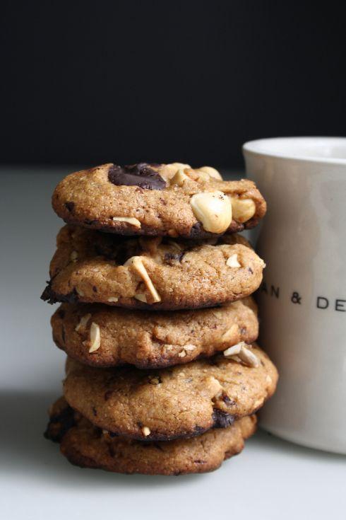 ... Chocolate Chunk & Hazelnut Cookies Recipe using honey or agave