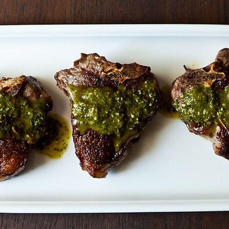 Chimichurri Lamb Chops Recipe | Food | Pinterest